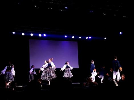 Dancers performing at Israeli Pavilion