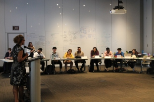 students engage in lecture at CMHR
