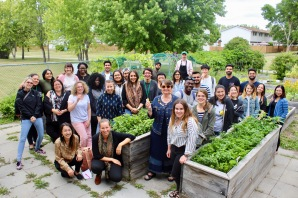 2018 Class at the NorWest Community Food Center Garden with Chef Grant Mitchell