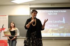 Senator McPhedran introduces Breanne Lavallee-Heckert