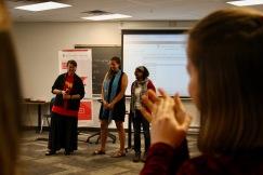 Senator McPhedran thanks the 2018 Teaching Assistants Micaela Crighton and Teruni Walaliyadde