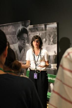 Isabelle Masson, exhibit curator, speaks about Mandela: Struggle for Freedom exhibit