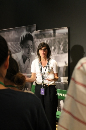 Isabelle Masson, exhibit curator, speaks about Mandela: Struggle for Freedom exhibit