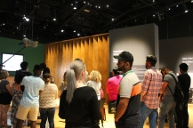 students explore the Mandela: Struggle for Freedom exhibit