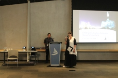 Senator McPhedran introduces Dr. Jeremy Maron