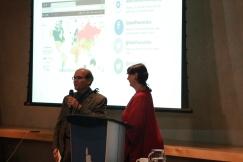 Eduardo Da Costa receives thanks from Senator McPhedran for lecture