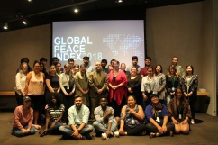 2018 Class with Guest Lecturer Eduardo Da Costa at the Canadian Museum for Human Rights