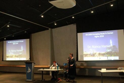 Senator McPhedran introduces Dr. Hansen at CMHR