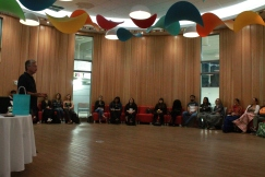 student sit in Round Room at Mawi Wi Chi Itata Centre