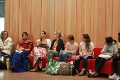 Students sit in Round Room at Mawi Wi Chi Itata Centre